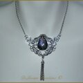 Collier Mariage <b>Elfique</b> Celtique Medieval fantasy Celtic Wicca Pagan Labradorite Elven Elvish Wedding necklace