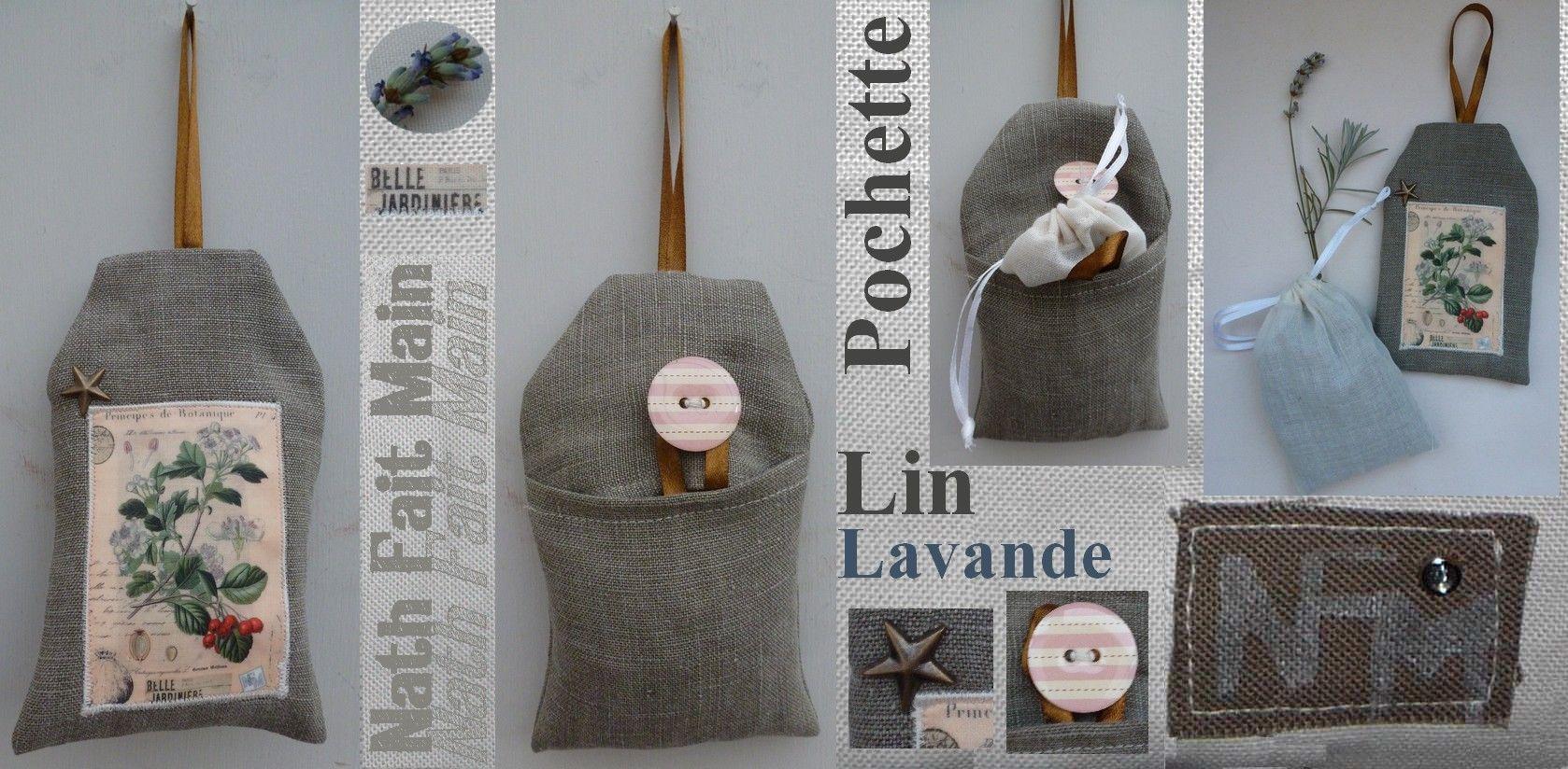 Pochette Lin 'Lavande