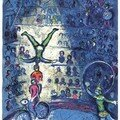 Le cirque-Plate II, Chagall