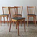 Lot 4 <b>chaises</b> de bistrot Baumann N°12
