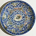 Dish with vegetal decoration, Iran, <b>Safavid</b> Period (1501 - 1722)