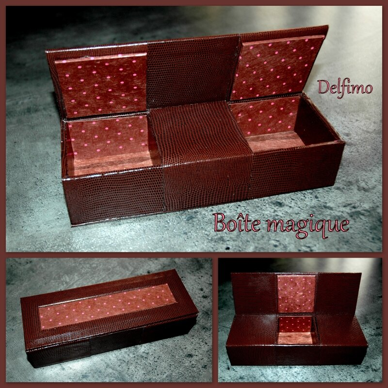 Boîte magique chocolat framboise