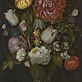 <b>Ambrosius</b> <b>Bosschaert</b> <b>the</b> <b>Elder</b>, Flowers in a berkemeier glass on a stone ledge