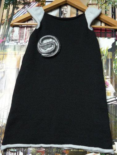 Robe angora noir