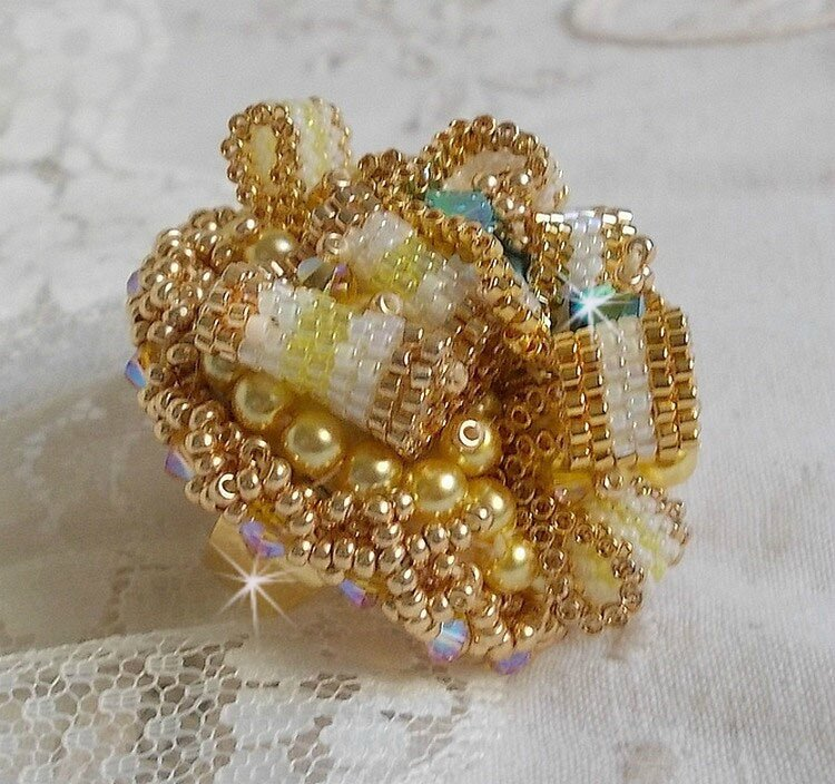 Bague Haute-Couture Sunflower Gold