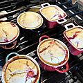 Pudding aux framboises
