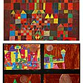 à la manière de Paul Klee, château et soleil