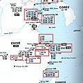 Chine - bureaux japonais - carte