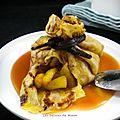 Aumônières de crêpes aux pommes et au caramel au beurre salé