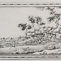 An en-grisaille decorated '<b>European</b> subject' plaque, Qing dynasty, Qianlong period (1736-1795)