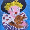 ART NAIF - clown -sur http://lodya.artgallery.free.fr