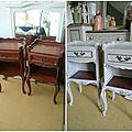 Avant - Après des meubles