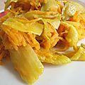 Endives et julienne de carottes à l'orange et au safran