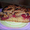 Gâteau framboises façon crumble