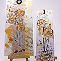 Ensemble carte et marque-page coquelicots - Poppy card and bookmark