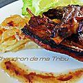 Côtes d'agneau grillées au four
