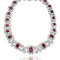 A <b>ruby</b> <b>and</b> <b>diamond</b> <b>necklace</b>, by Harry Winston