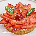 Tarte aux fraises sur biscuit breton au thermomix