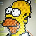 Homer en perles à repasser