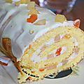 Gâteau roulé aux fruits st mamet