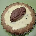 Tartelettes fruits de la passion et chocolat au lait sans gluten, sans lactose