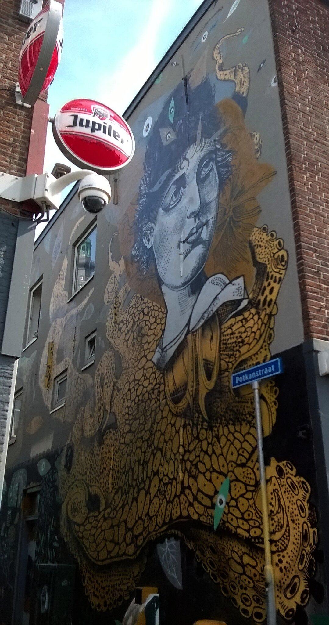 Street-Art dans les rues de Breda, Pays-Bas..