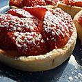 Petite tartelette aux fraises de printemps...