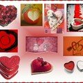 Mosaïque rouge coeur