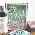 Tulips birthday card - the Flower challenge #59