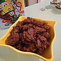 Petits chocolats pralinés croustillants
