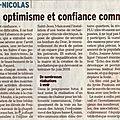 Article des voeux du dauphiné libéré du 24/01/2018