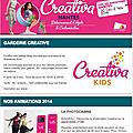 Retrouvez-nous au Salon <b>Créativa</b> <b>Nantes</b> - 30/10 au 02/11/14 !