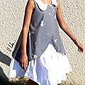 Robe Appliquée (Her Little World) et pochette à crayons (FDS)