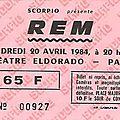 <b>R</b>.<b>E</b>.<b>M</b>. - Vendredi 20 Avril 1984 - Eldorado (Paris)