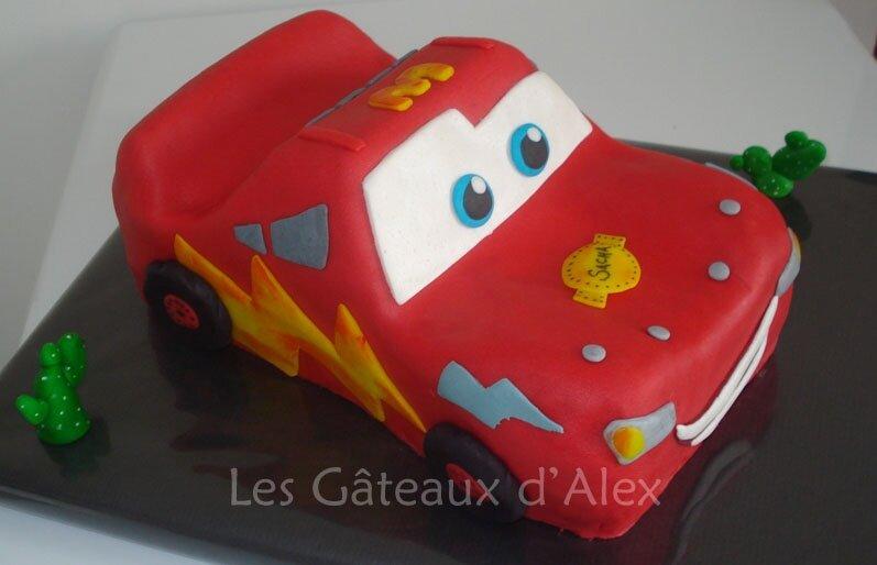 Gâteau Cars Flash McQueen #2