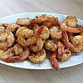 Crevettes à la marocaine...ou à l'indienne...ou à la mexicaine...