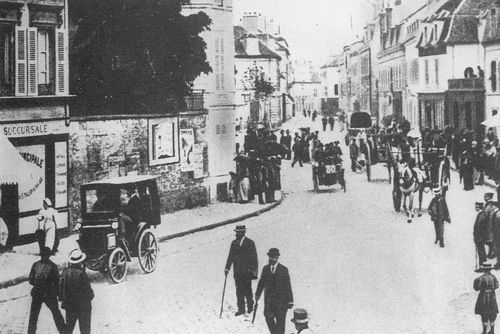 1894 paris-rouen - michaud in mantes (#30 peugeot phaeton 3hp) 9th