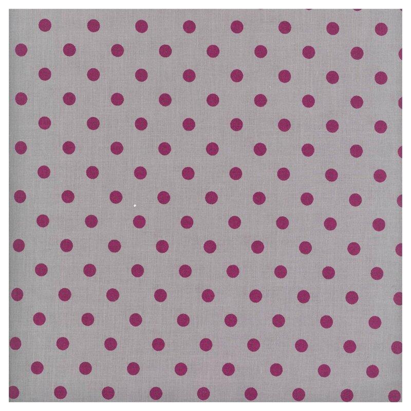 Coton gris à pois prune