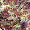 Tarte à la courgette, aux champignons de paris et à la mozzarella