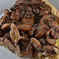 Tarte aux champignons et aux noix