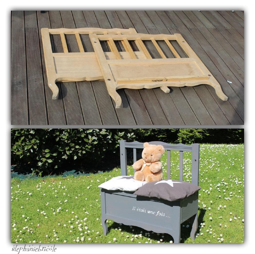 Faire un banc enfant avec un cadre de lit récup !