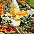 Salde de cresson et de pommes de terre, sauce aux herbes