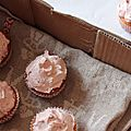 Cupcakes vanille & framboise