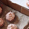 Cupcakes vanille & framboise