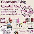 Chez nadege au concours blog créatif 2013 marie claire idées