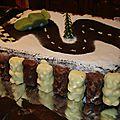 Recette du gâteau d'anniversaire circuit voiture