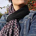 2 en 1! Cette écharpe se porte aussi en gilet.