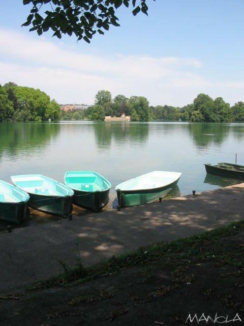 bateau dans le parc de la tête d'or
