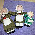 Plusieurs nouvelles poupées en lain