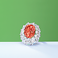 A superb <b>padparadscha</b> <b>sapphire</b> and diamond ring